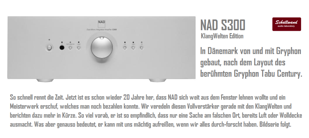 Banner_NAD_S300_Gryphon_Tabu_Century_modiefied_by_Schallwand_audio_laboratory